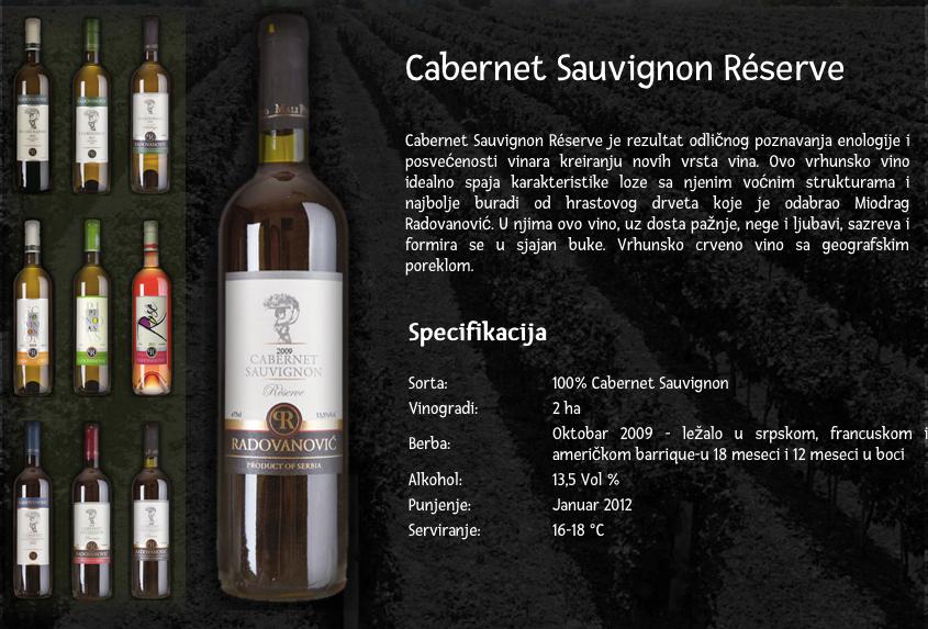 Cabernet reserve Radovanovic